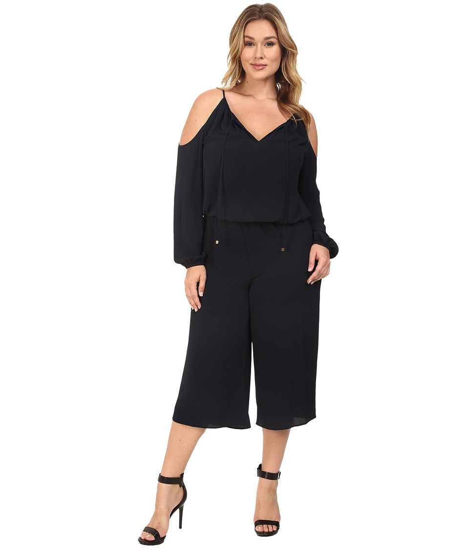 MICHAEL Michael Kors - Plus Size Cold Shoulder Jumpsuit (New Navy) Women's Jumpsuit & Rompers One Piece