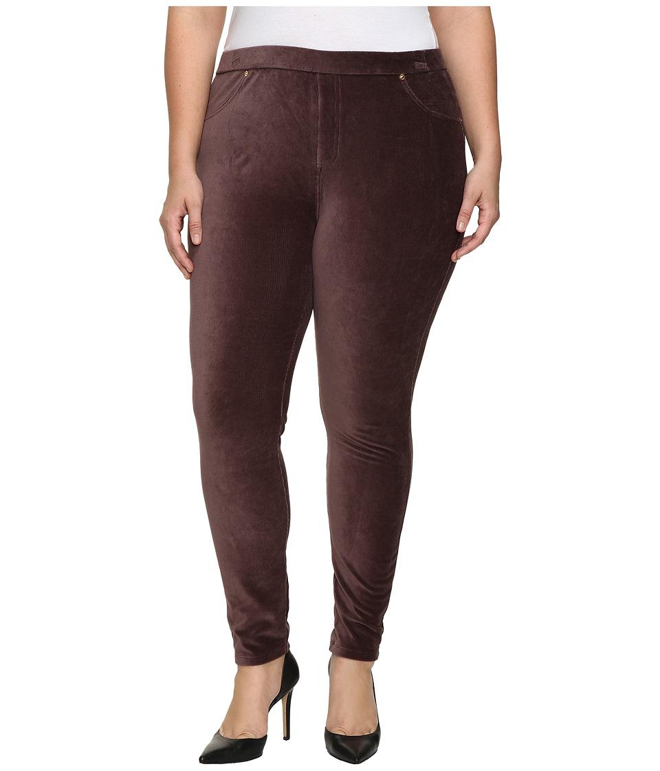 MICHAEL Michael Kors Plus Size Stretch Corduroy Leggings (Chocolate) Women