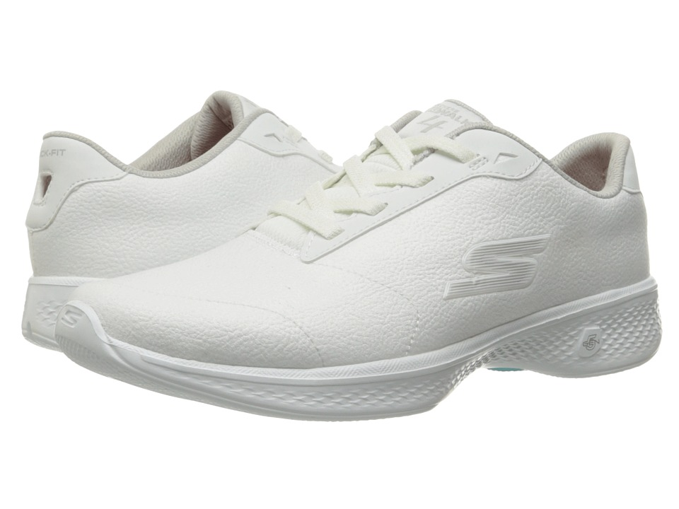 SKECHERS Performance - Go Walk 4 - Premier (White/Silver) Women's Shoes
