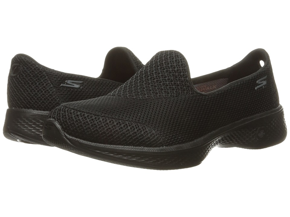 SKECHERS Performance - Go Walk 4 - Propel (Black) Women's Shoes