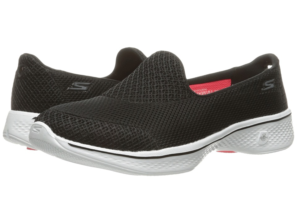 SKECHERS Performance - Go Walk 4 - Propel (Black/White) Women's Shoes