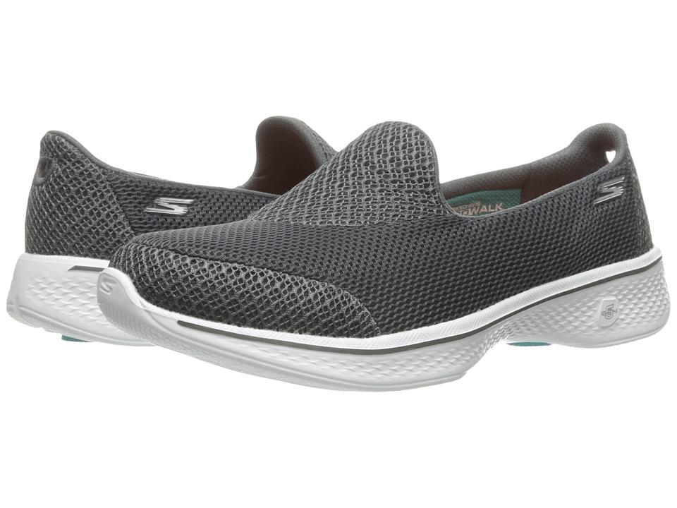 SKECHERS Performance - Go Walk 4 - Propel (Charcoal) Women's Shoes