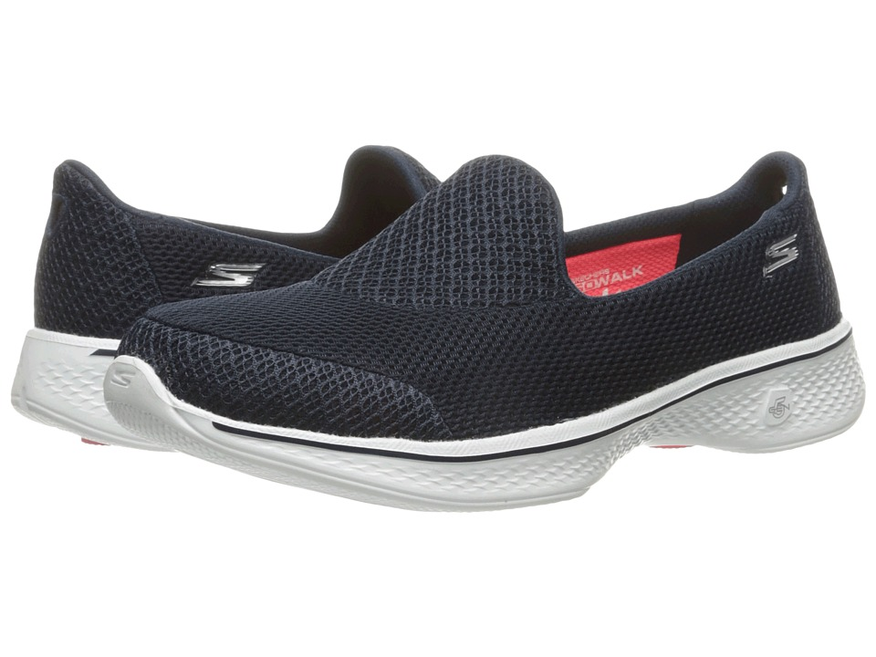 SKECHERS Performance - Go Walk 4 - Propel (Navy/White) Women's Shoes