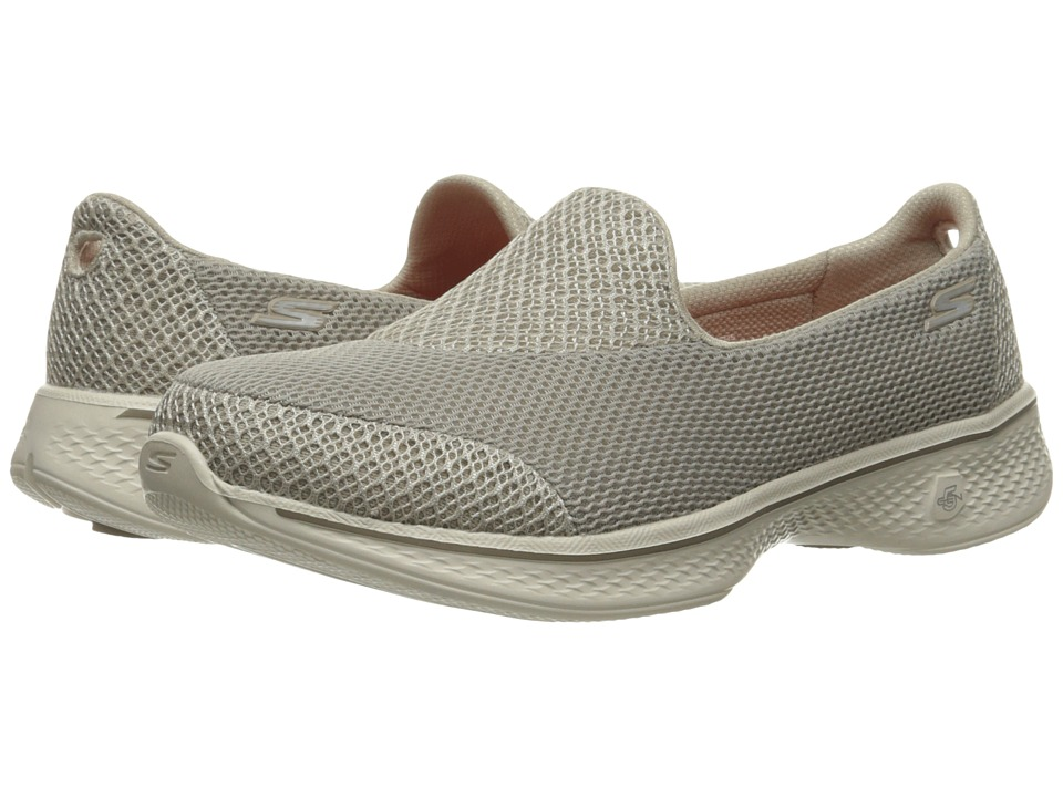 SKECHERS Performance - Go Walk 4 - Propel (Taupe) Women's Shoes