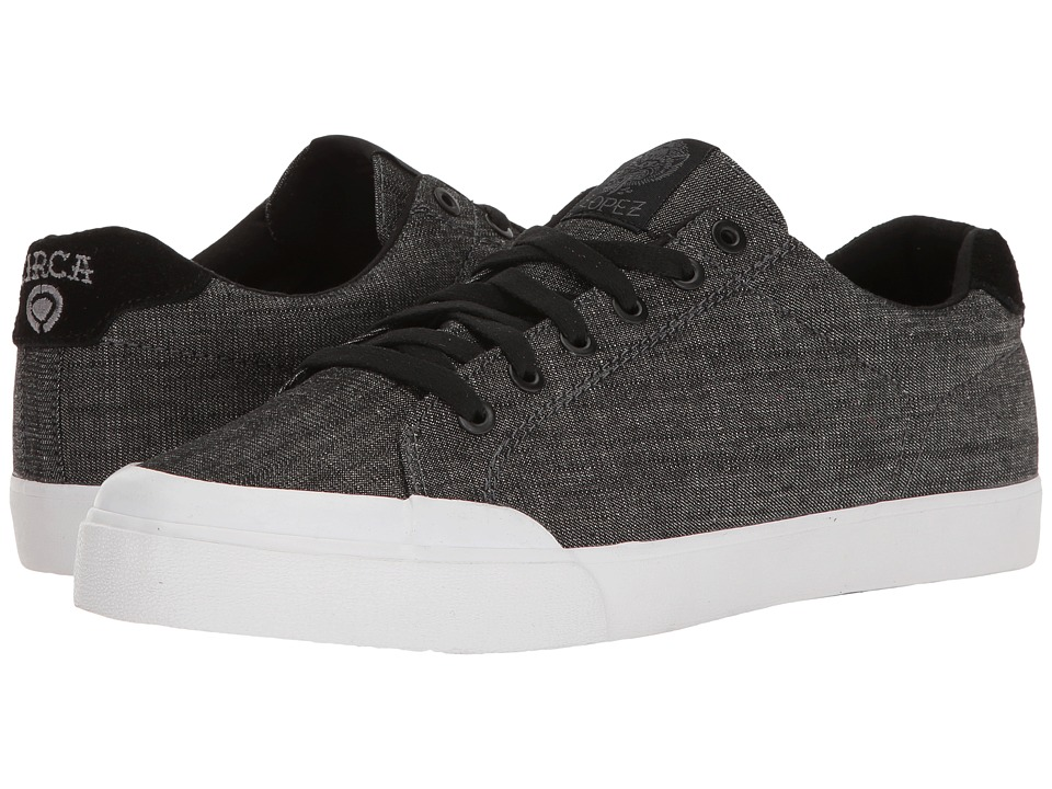 Circa - AL50R (Black Denim/White) Men's Skate Shoes