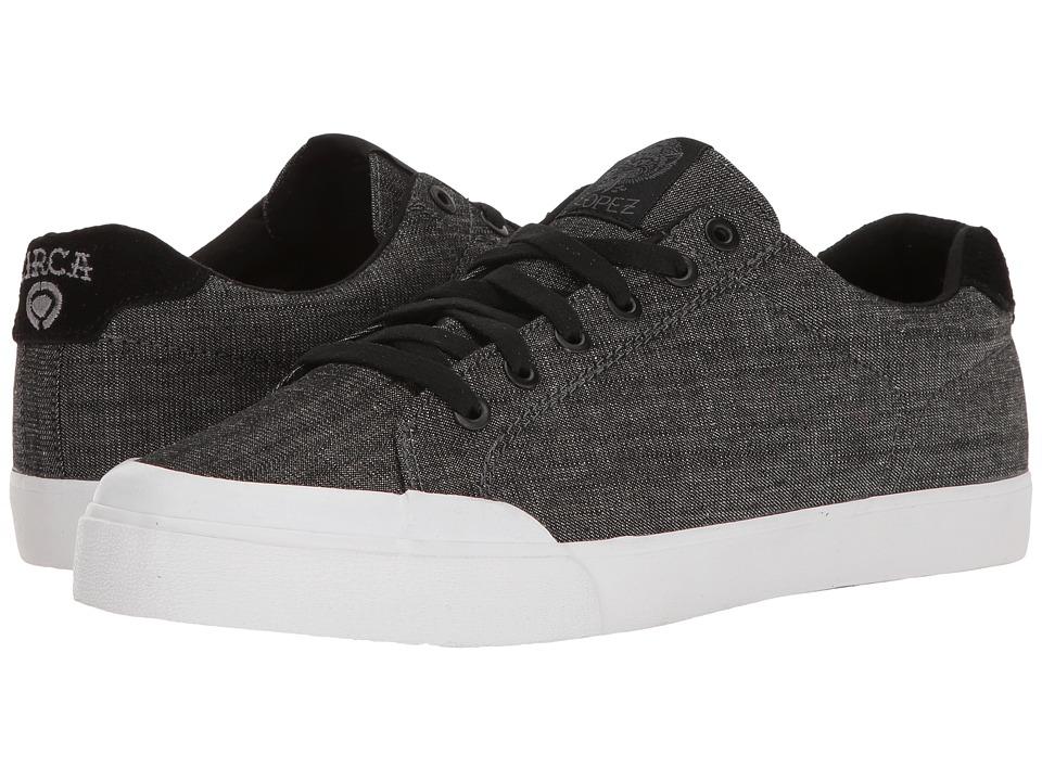 Circa - AL50R (Black Denim/White) Men's Skate Shoes