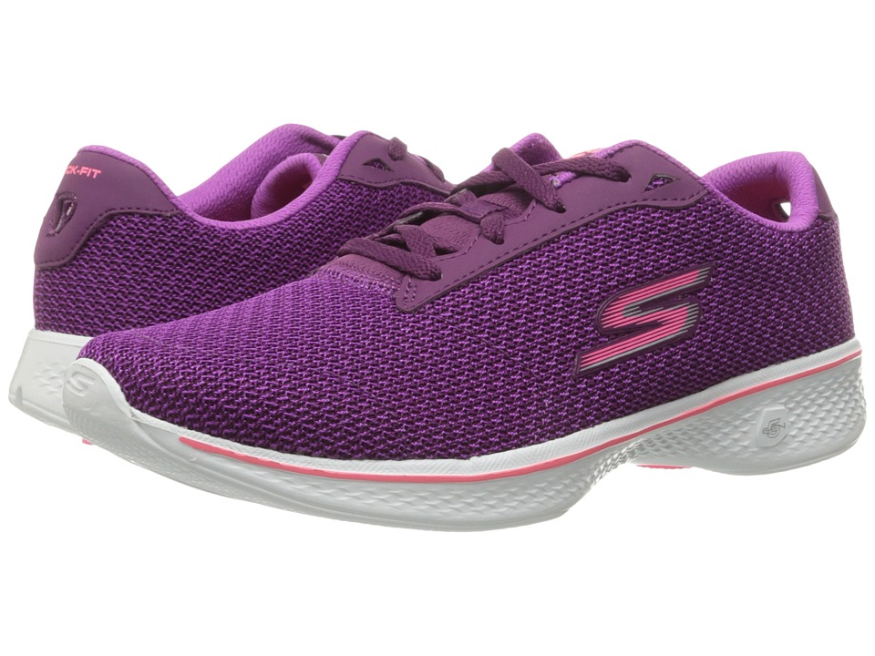 SKECHERS Performance - Go Walk 4 - Glorify (Purple/Pink) Women's Shoes