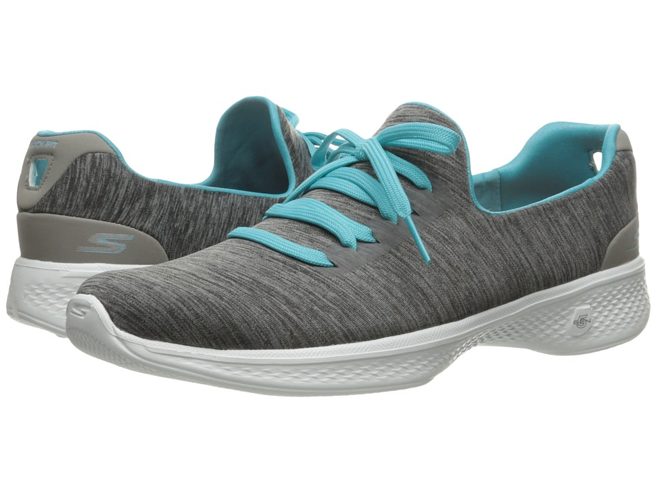 SKECHERS Performance - Go Walk 4 - A.D.C. (Gray/Blue) Women's Shoes