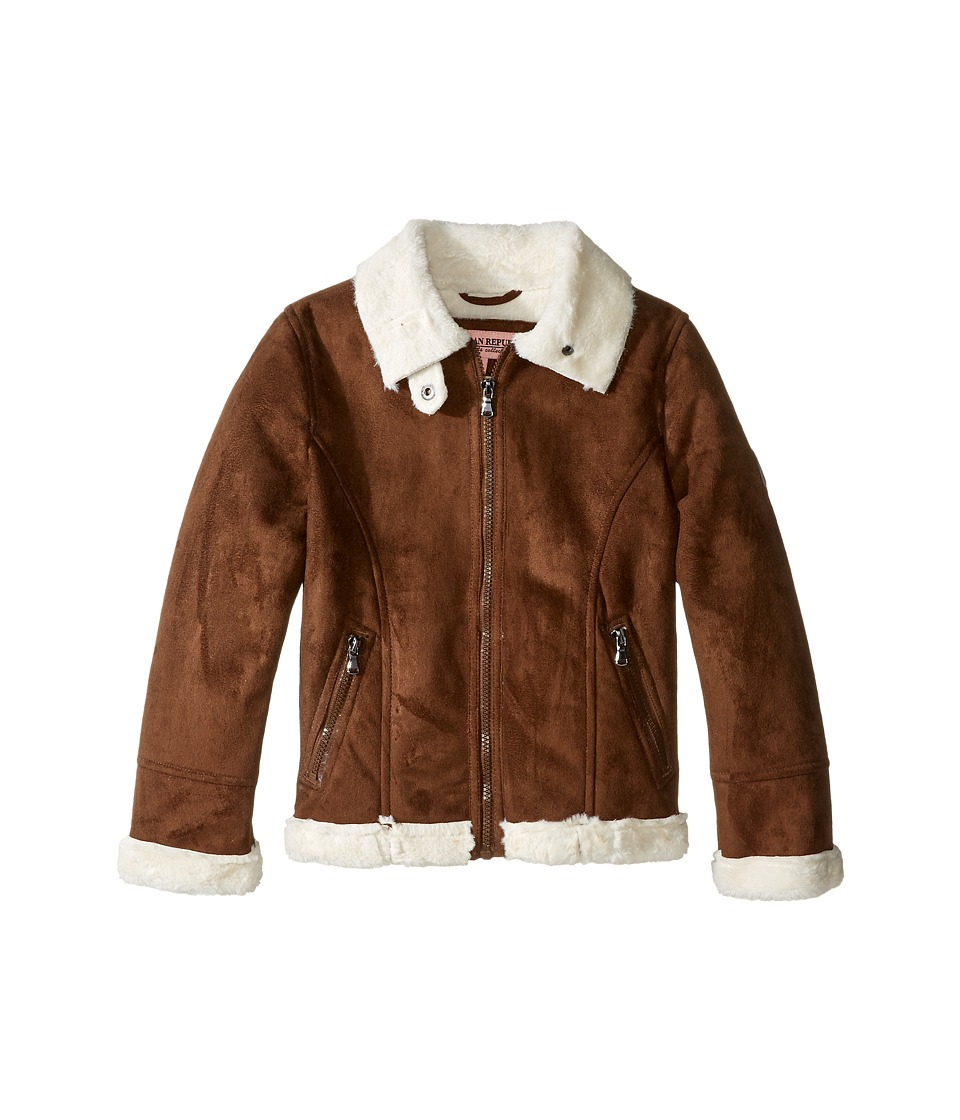 Urban Republic Kids - Ultra Suede Faux Shearling Jacket (Little Kids) (Coffee) Girl's Coat