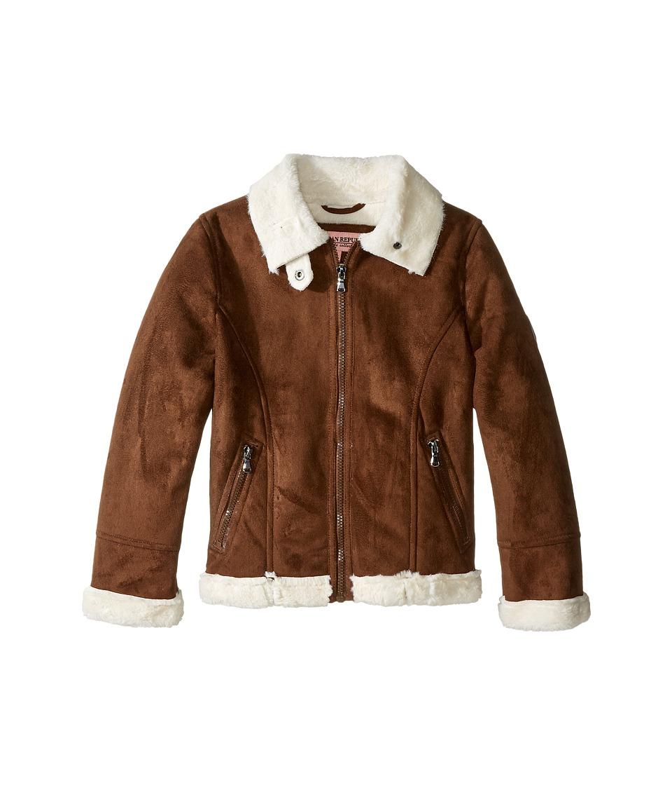 Urban Republic Kids - Ultra Suede Faux Shearling Jacket (Little Kids) (Coffee) Girl's Coat