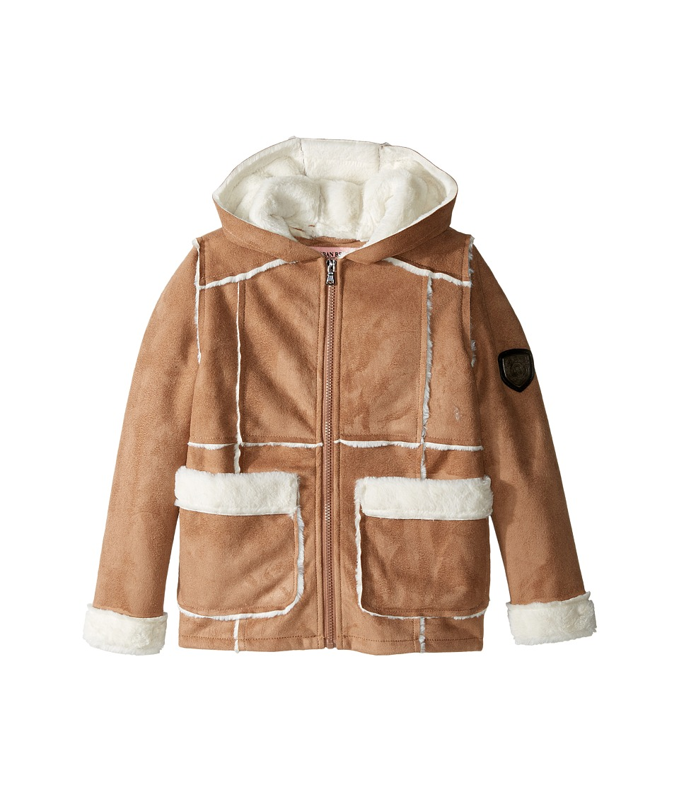 Urban Republic Kids - Ultra Suede Faux Shearling Jacket (Little Kids/Big Kids) (Caramel) Girl's Coat