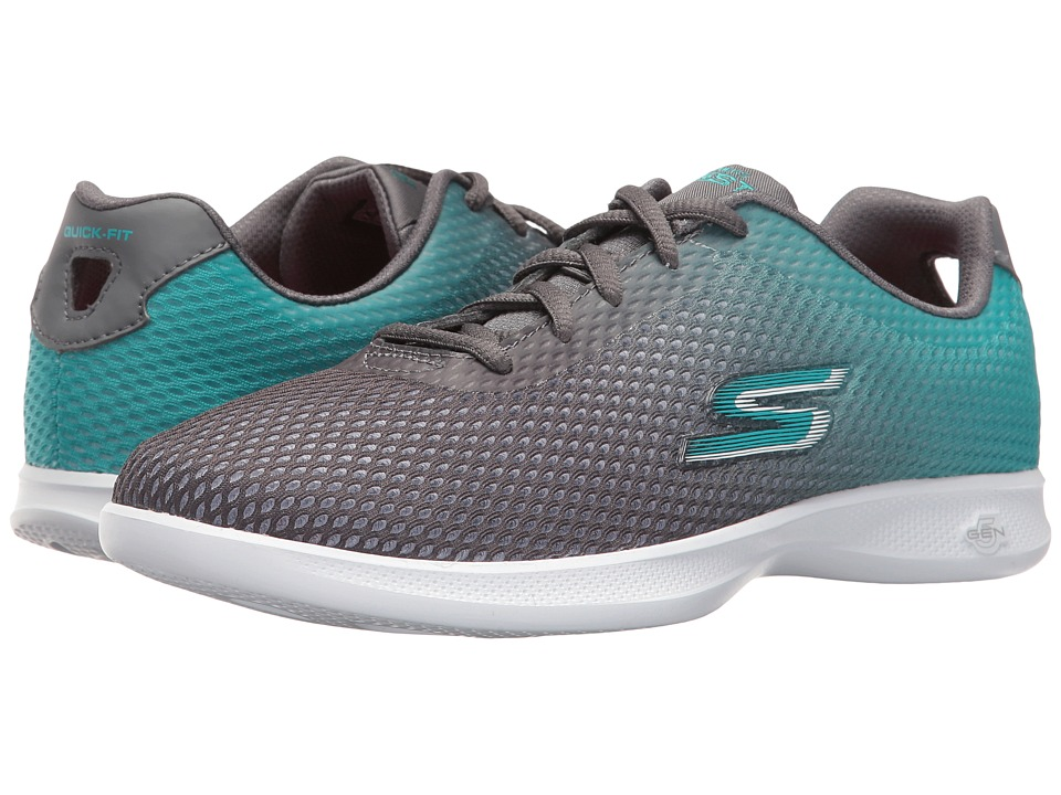 SKECHERS Performance - Go Step Lite (Charcoal/Teal) Women's Shoes