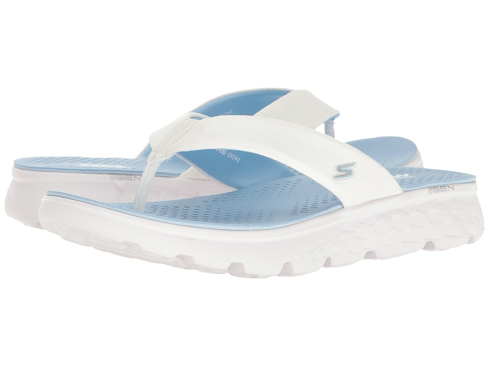 SKECHERS Performance On-The-Go 400 Essence (White/Light Blue) Women