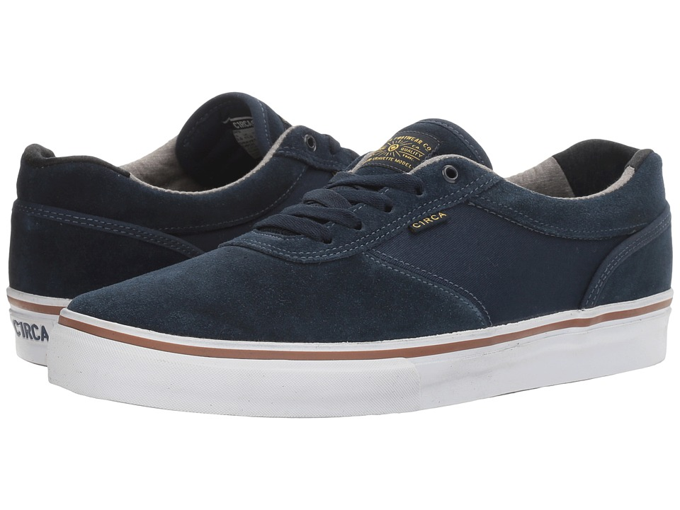 Circa - Gravette (Dress Blues/Chambray) Men's Skate Shoes