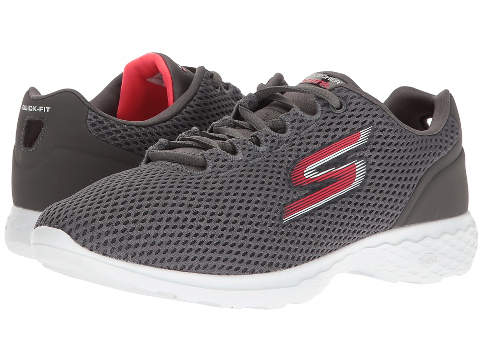 SKECHERS Performance - Go Train (Charcoal/Pink) Women's Shoes