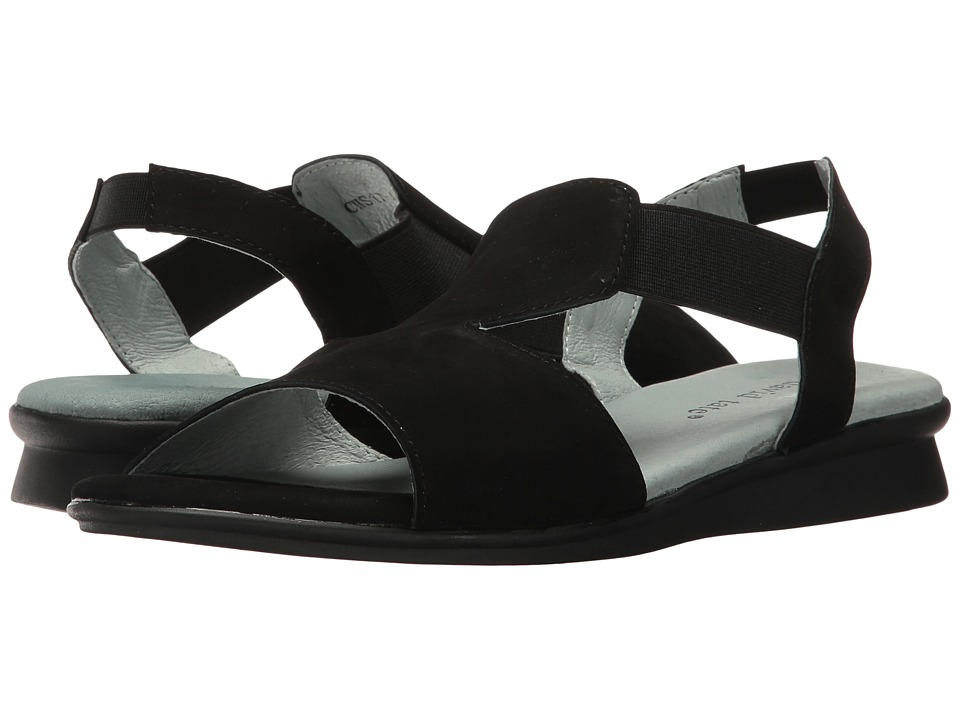David Tate - Ash (Black Nubuck) Women's Sandals