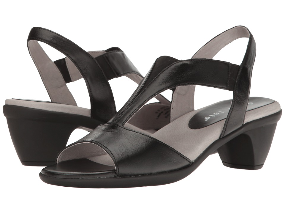 David Tate - Accord (Black Glazed Calf) Women's 1-2 inch heel Shoes