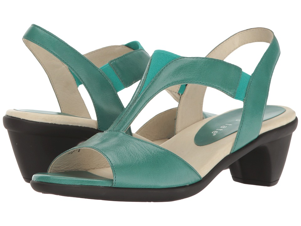 David Tate - Accord (Teal Glazed Calf) Women's 1-2 inch heel Shoes