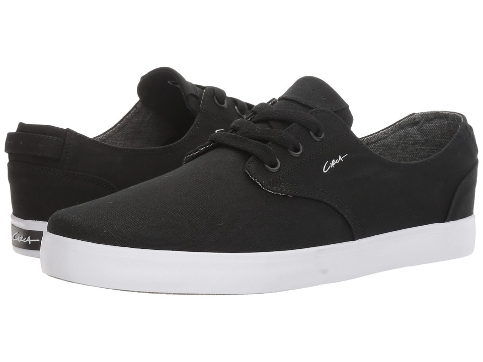 Circa - Harvey (Black/White/Gum) Men's Skate Shoes
