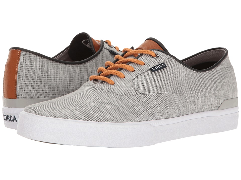 Circa - Kingsley (Light Gray/Tobacco) Men's Skate Shoes