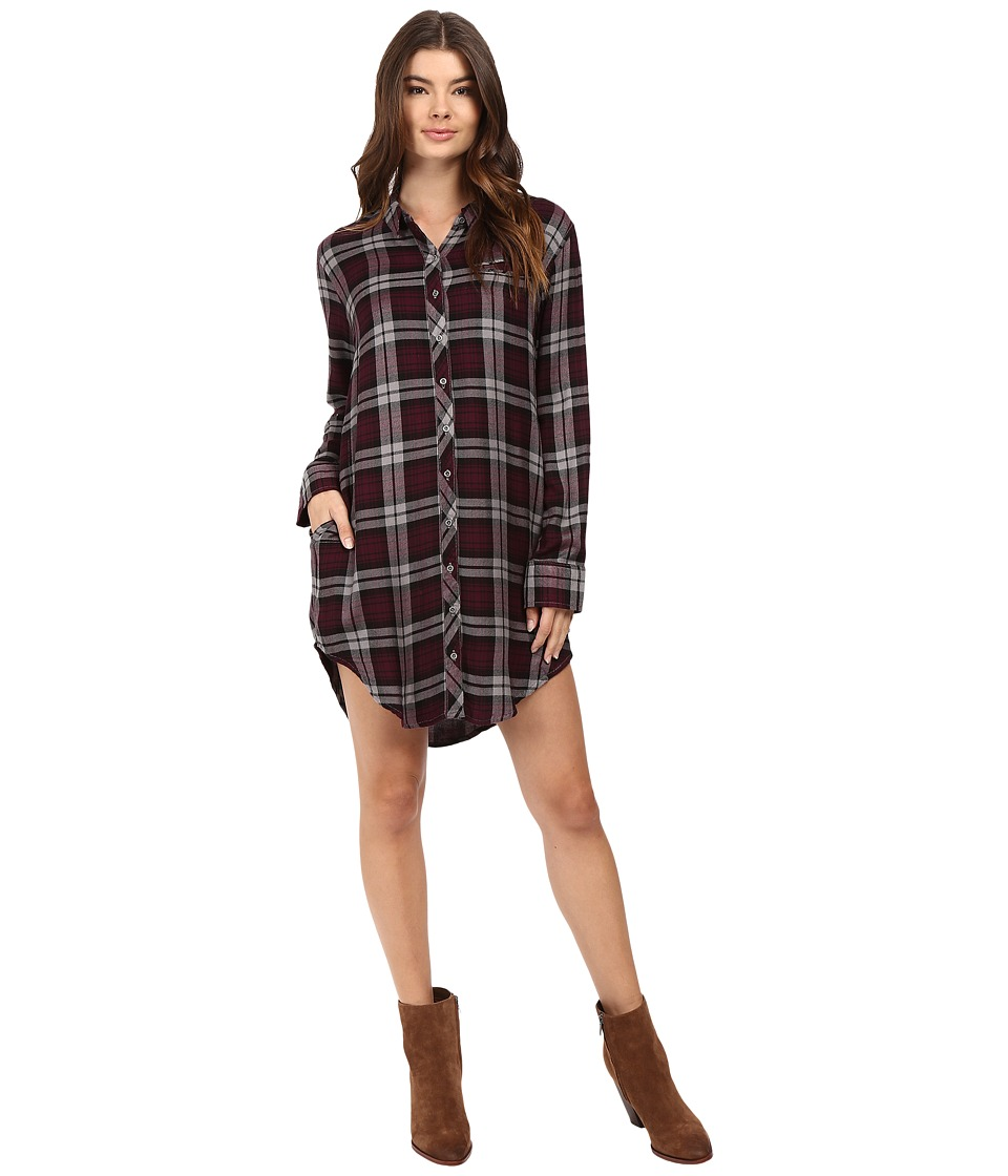 Roxy - Woodwork 2 Dress (Gordon Plaid Potent Purple) Women's Clothing