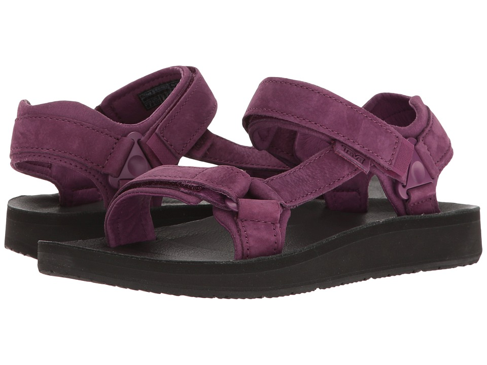 Teva Original Universal Premier Leather (Dark Purple) Women