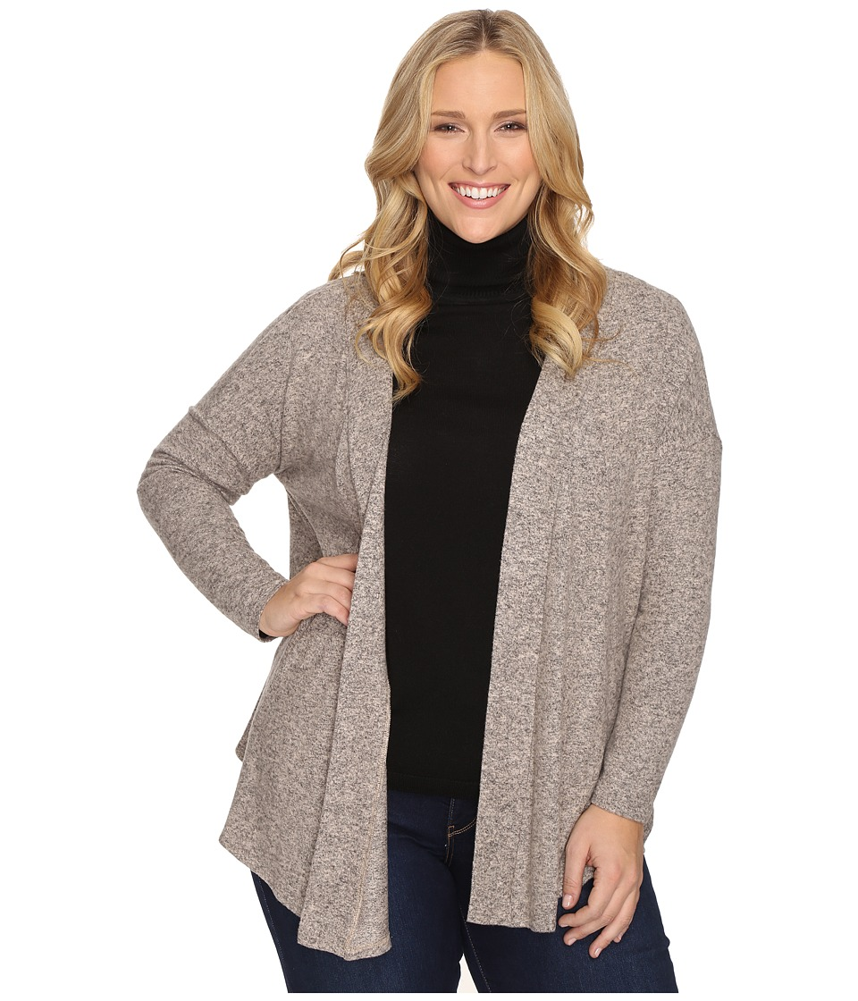 B Collection by Bobeau Curvy - Plus Size Syden Relaxed Cardigan (Dusty Rose) Women's Sweater