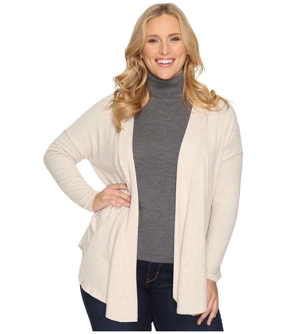 B Collection by Bobeau Curvy - Plus Size Syden Relaxed Cardigan (Oatmeal) Women's Sweater