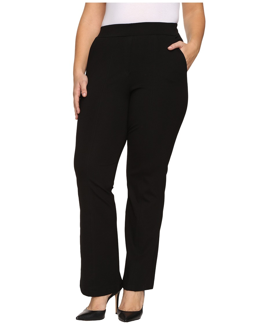 B Collection by Bobeau Curvy - Plus Size Piper Trousers (Black) Women's Dress Pants