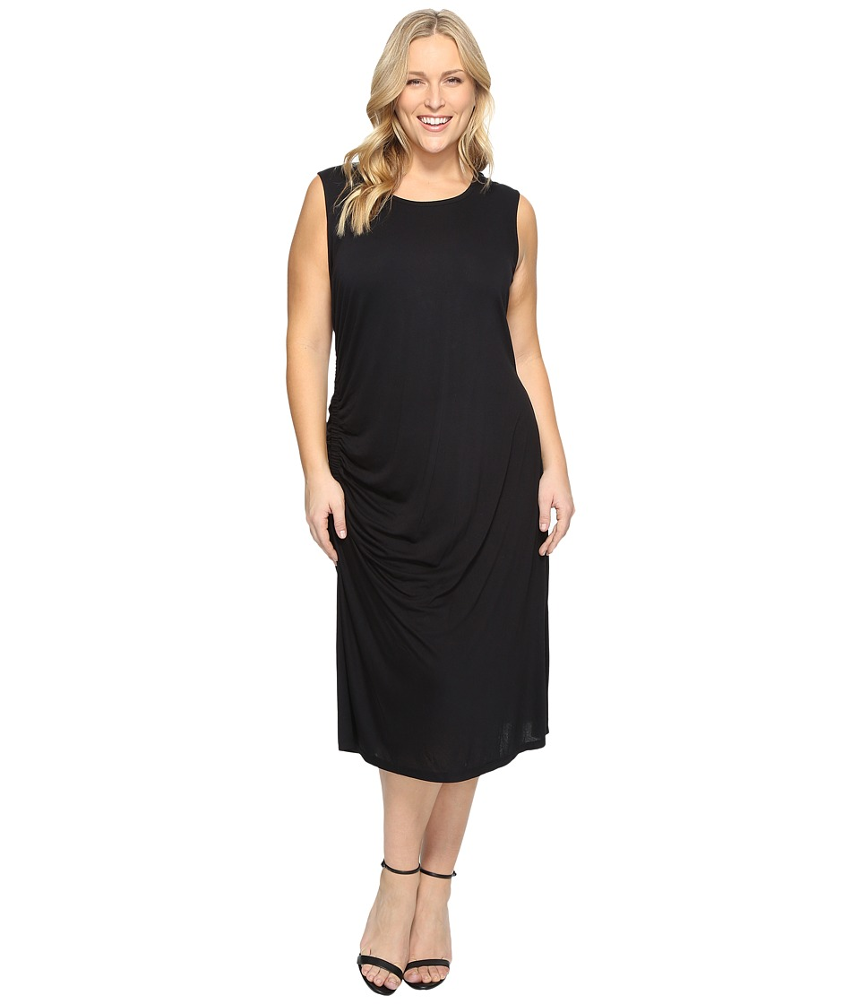 B Collection by Bobeau - Plus Size Camari Knit Dress (Black) Women's Dress