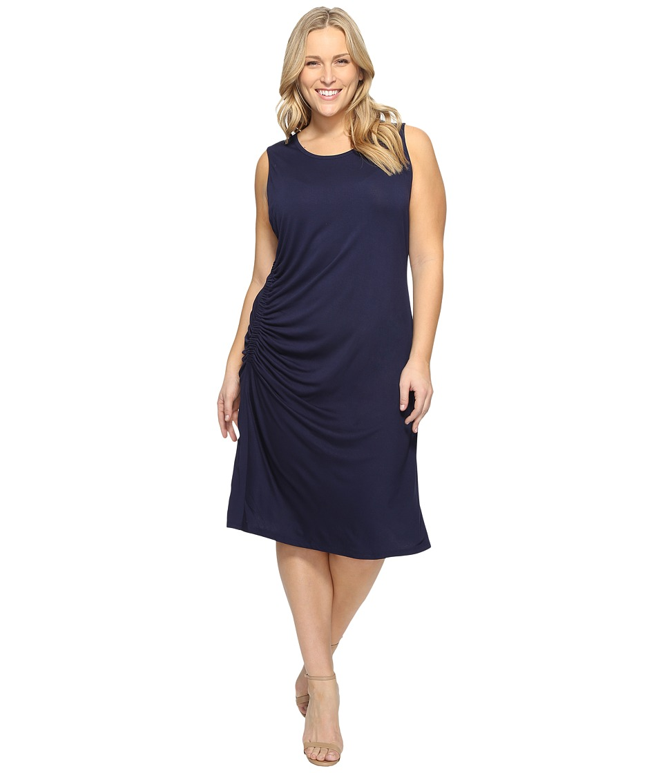 B Collection by Bobeau Curvy - Plus Size Camari Knit Dress (Navy) Women's Dress