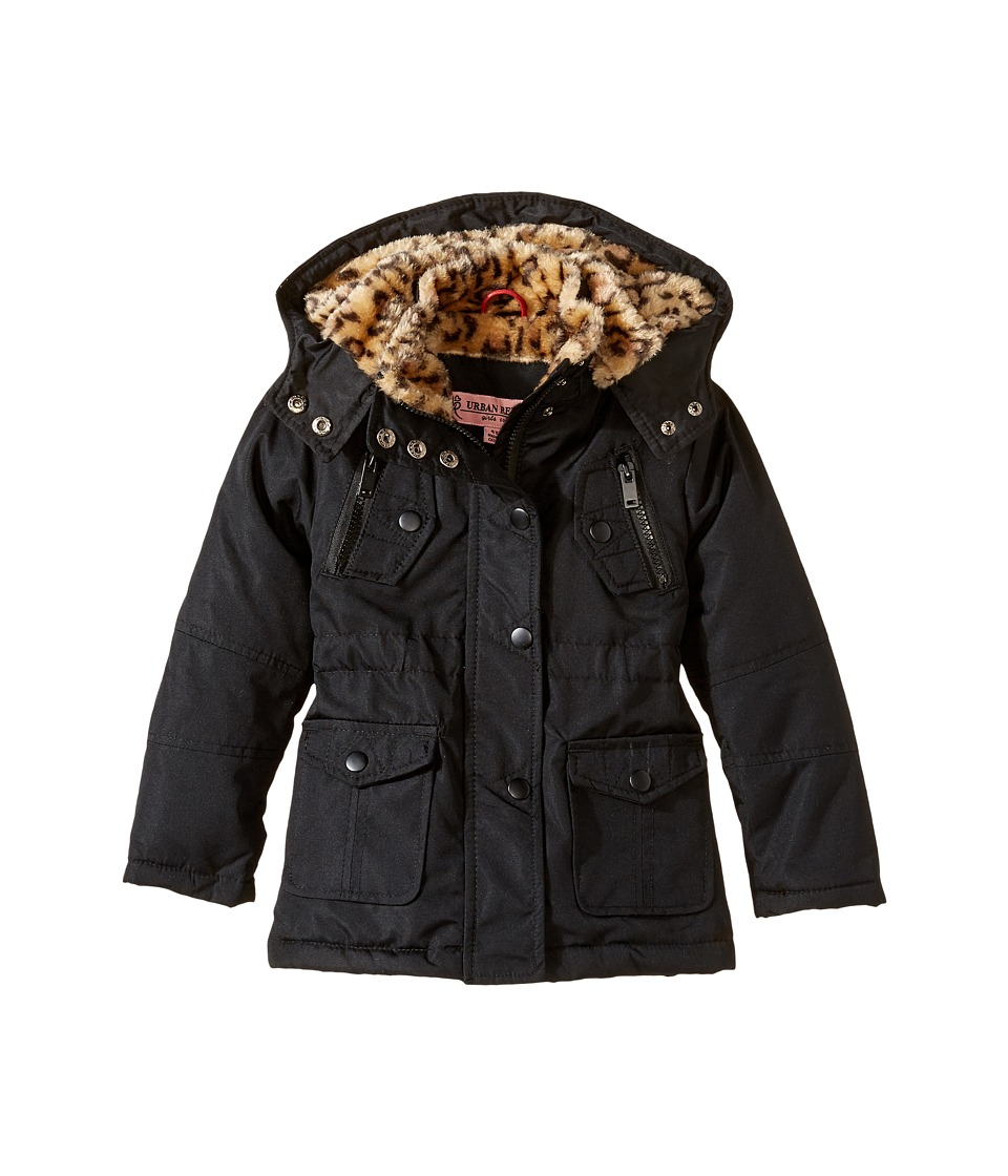 Urban Republic Kids - Feather Touch Ballistic Fur Lined Jacket (Infant/Toddler) (Black) Girl's Coat