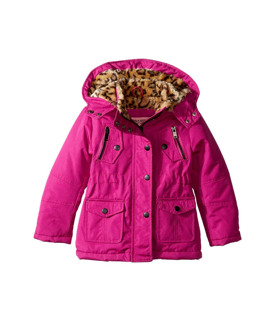 Urban Republic Kids - Feather Touch Ballistic Fur Lined Jacket (Infant/Toddler) (Mirage Pink) Girl's Coat