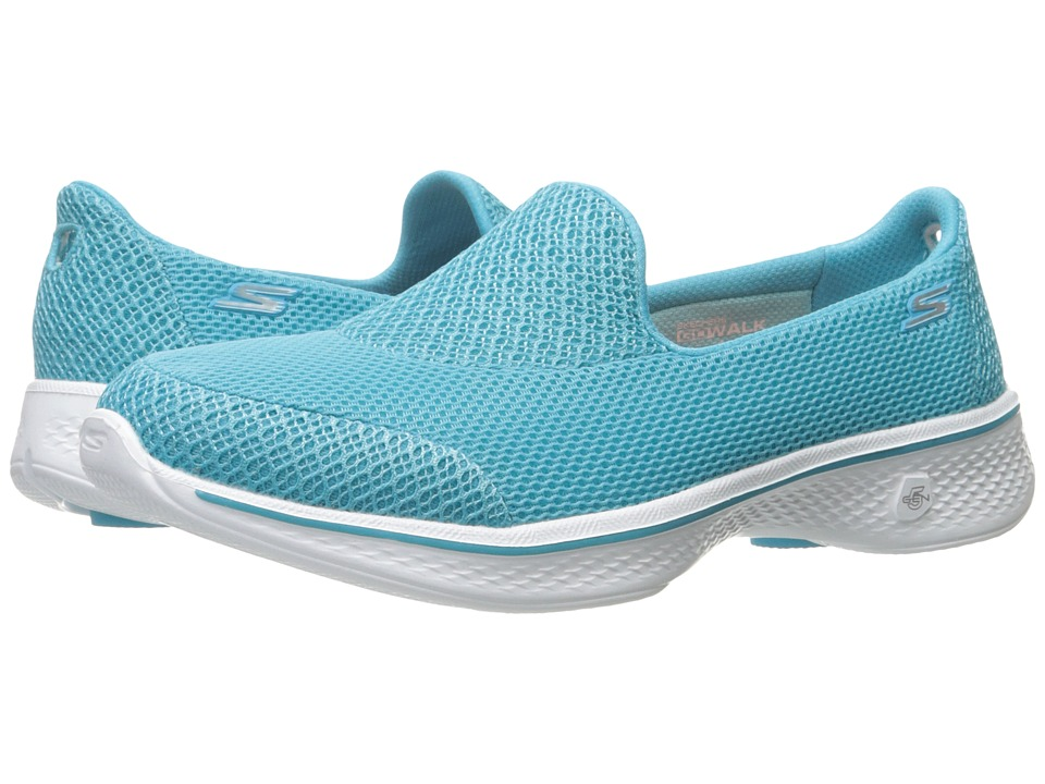 SKECHERS Performance - Go Walk 4 - Propel (Turquoise) Women's Shoes