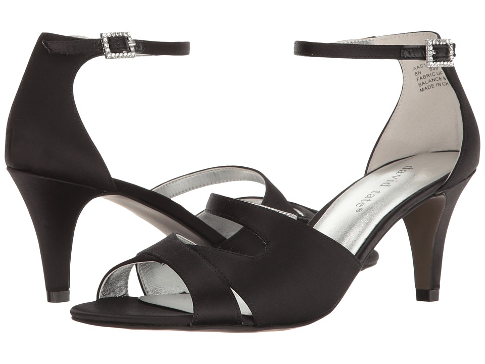 David Tate - Gaze (Black Satin) Women's 1-2 inch heel Shoes