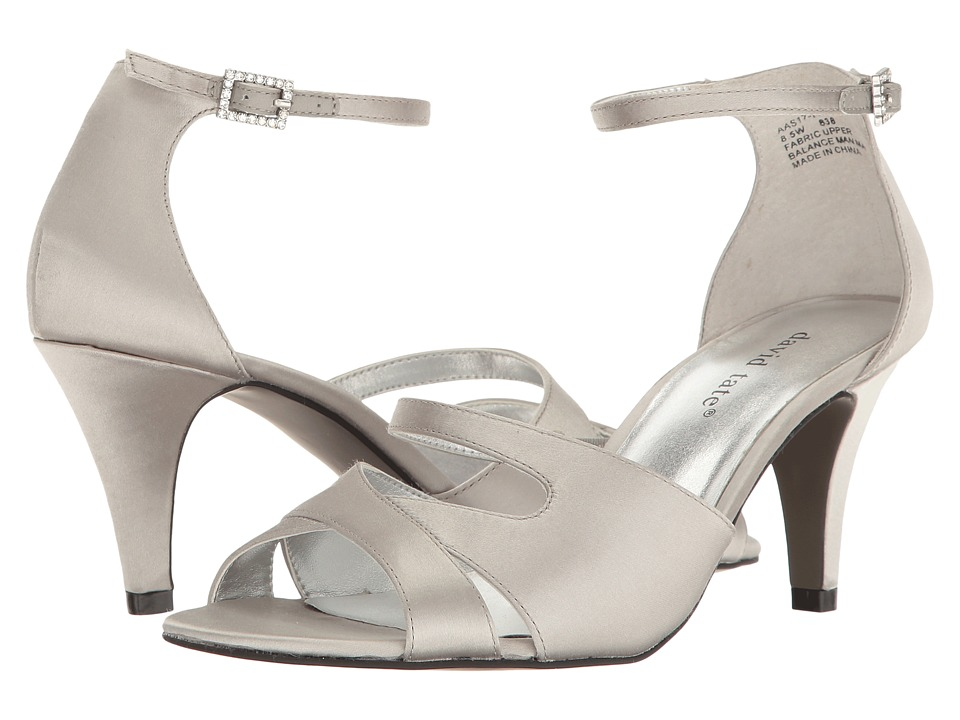 David Tate - Gaze (Silver Satin) Women's 1-2 inch heel Shoes