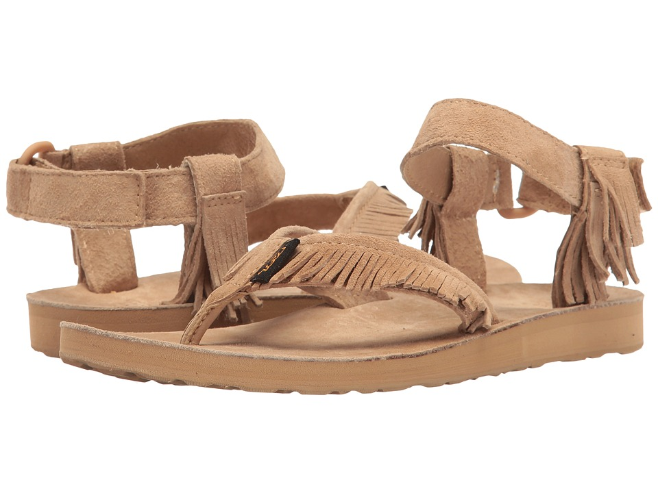 Teva Original Sandal Leather Fringe (Brown) Women