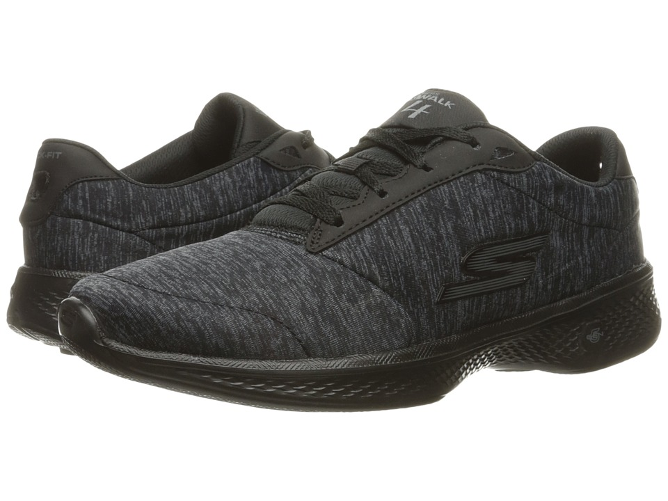 SKECHERS Performance - Go Walk 4 (Black/Gray) Women's Shoes