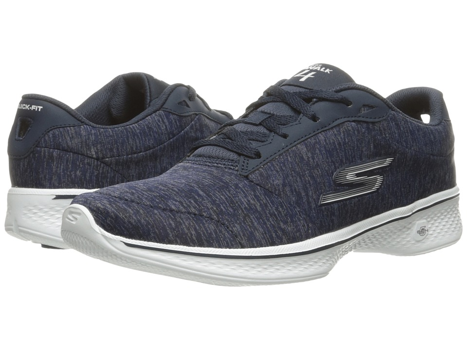 SKECHERS Performance - Go Walk 4 (Navy/White) Women's Shoes