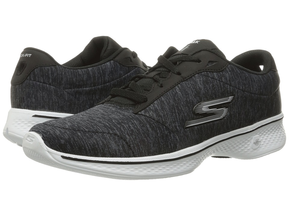 SKECHERS Performance - Go Walk 4 - Serenity (Black/White) Women's Shoes
