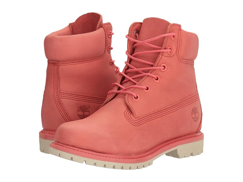 Timberland - 6 Premium Boot (Dark Pink Full Grain) Women's Lace-up Boots