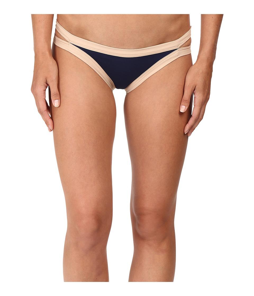 L*Space - Charlie Bottom (Midnight Blue/Skin) Women's Swimwear