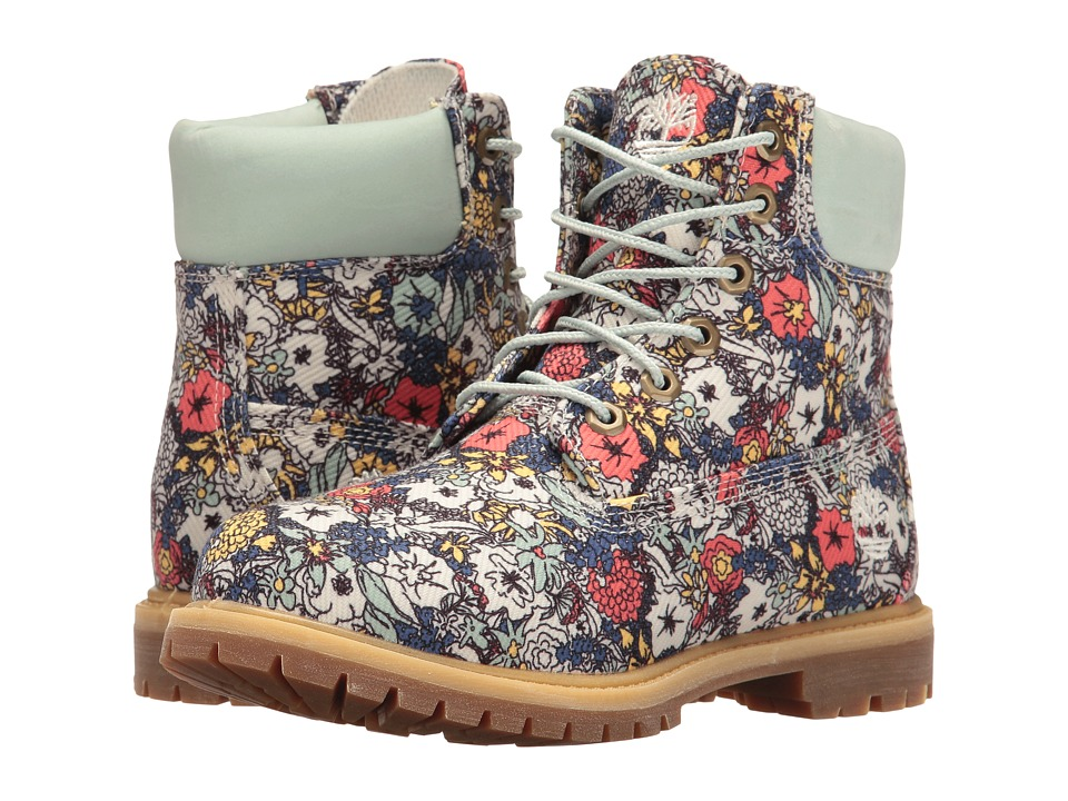 Timberland - Icon Fabric Boot (Light Green/Floral Canvas) Women's Boots