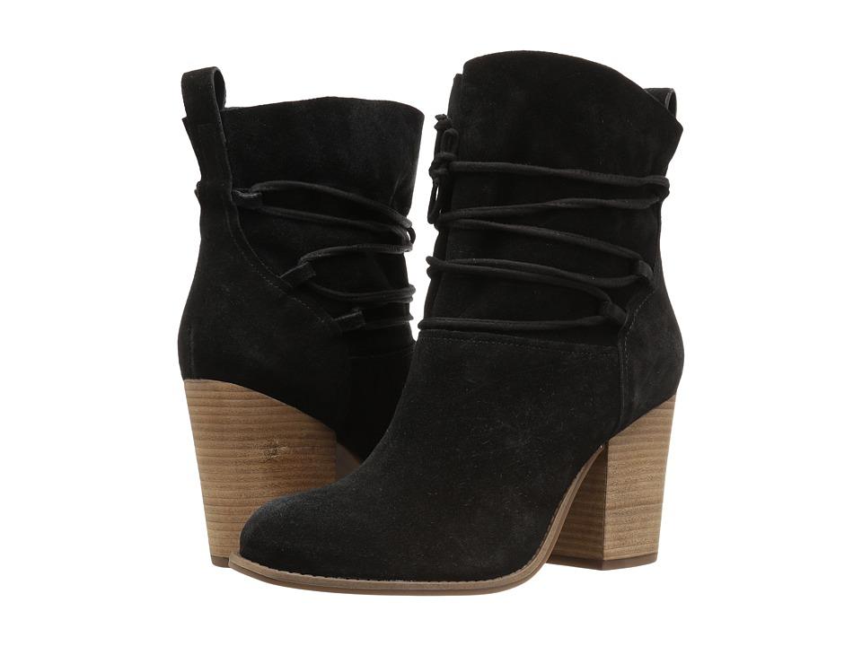 Jessica Simpson Satu Black Luxe Kid Suede Womens Shoes
