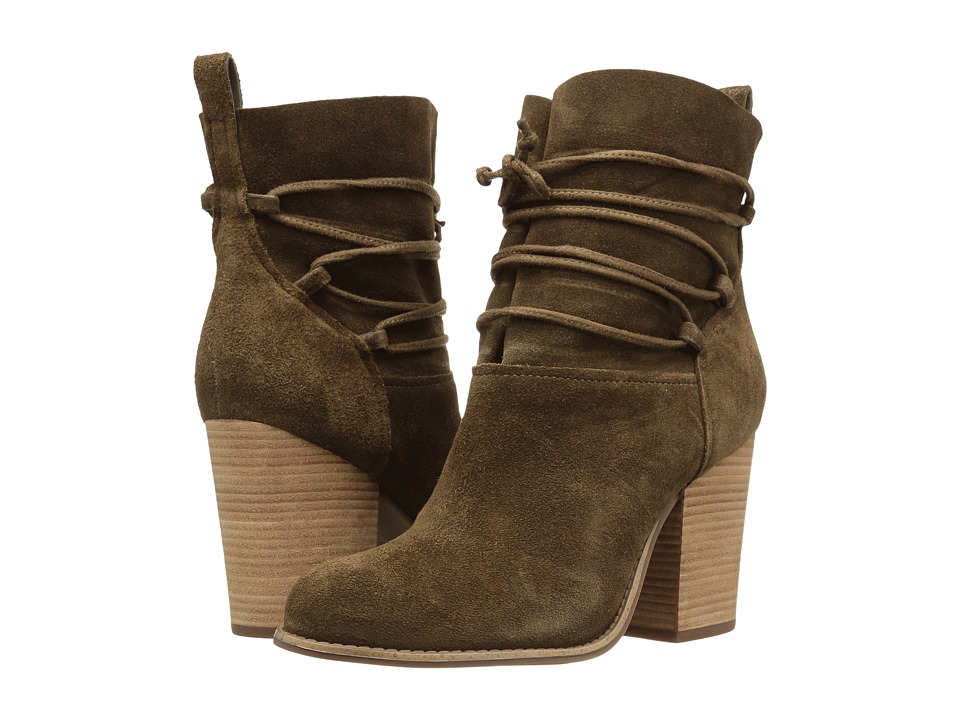 Jessica Simpson - Satu (Moss Brown Luxe Kid Suede) Women's Shoes