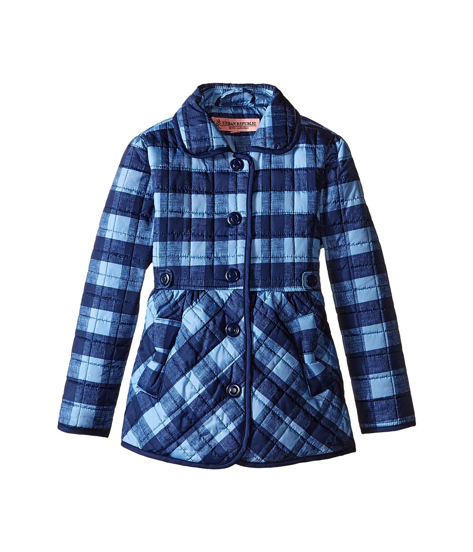 Urban Republic Kids - Quilted Thinfill Jacket (Little Kids) (Navy) Girl's Coat