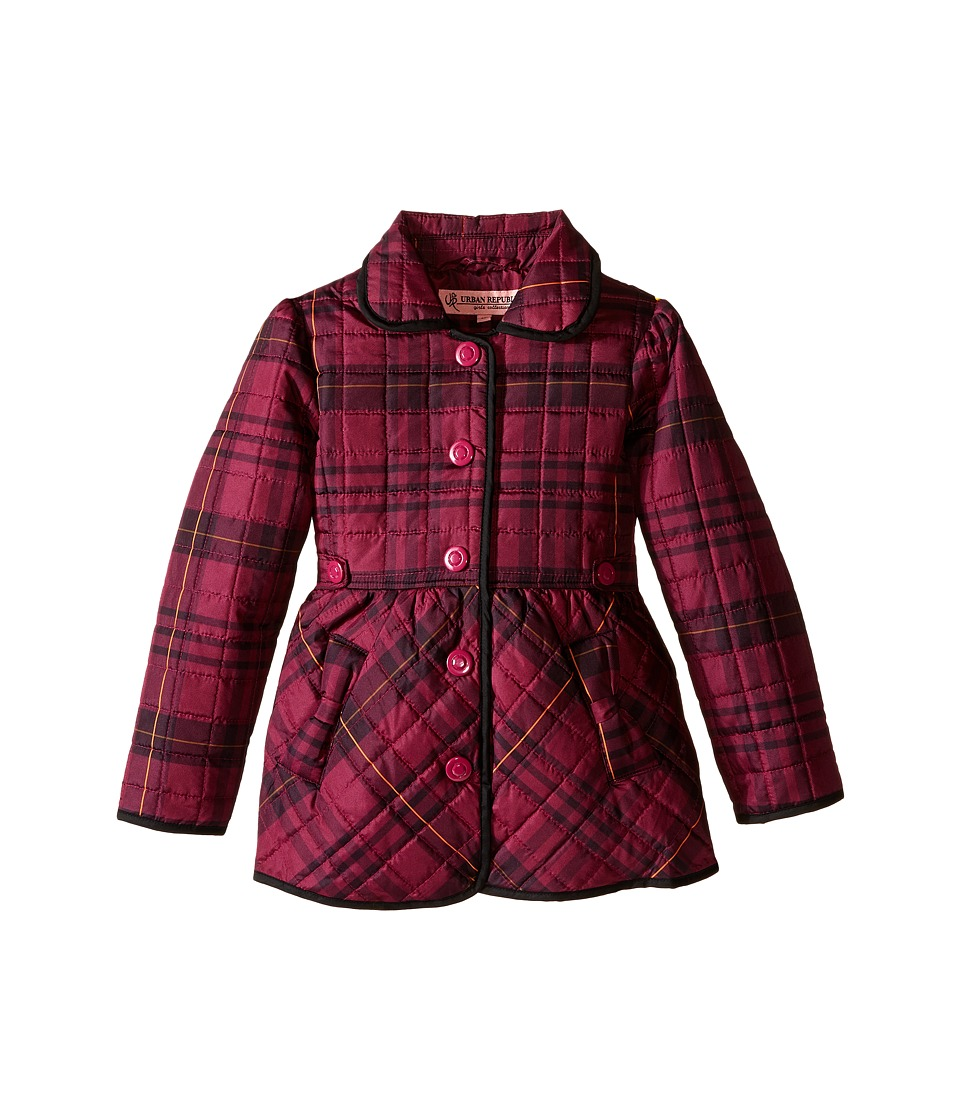 Urban Republic Kids - Quilted Thinfill Jacket (Little Kids) (Pink) Girl's Coat