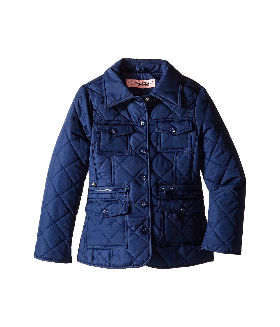 Urban Republic Kids - Quilted Thinfill Jacket (Little Kids/Big Kids) (Navy) Girl's Coat