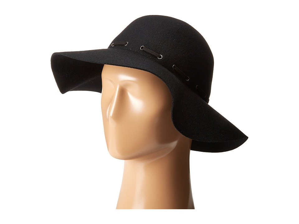 Karen Kane - Felt Floppy Hat (Black) Traditional Hats