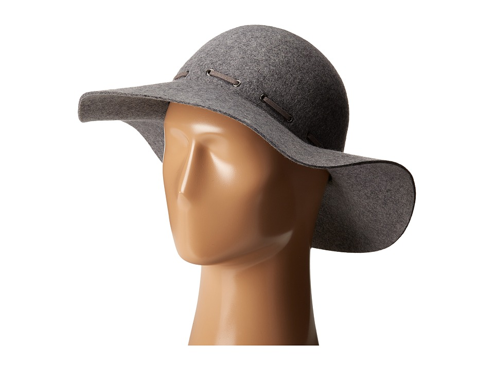 Karen Kane - Felt Floppy Hat (Heather Grey) Traditional Hats